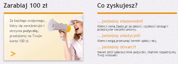 Zaplo.pl   Szybkie Pozyczki do 4000 zl program polecen