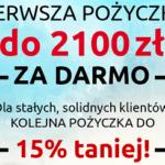 Pożyczka 2100 zł za 0 zł w Szybkiej Monecie