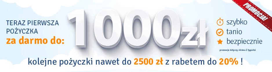 1000 zł darmowej pożyczki